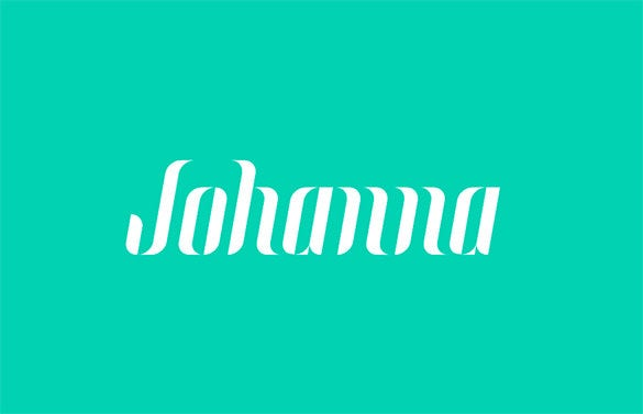 johanna free commercial font