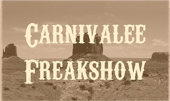 carnivalee freakshow commercial font free