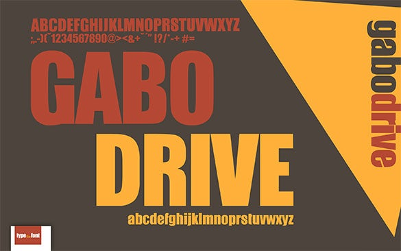 free gabo commercial font for you