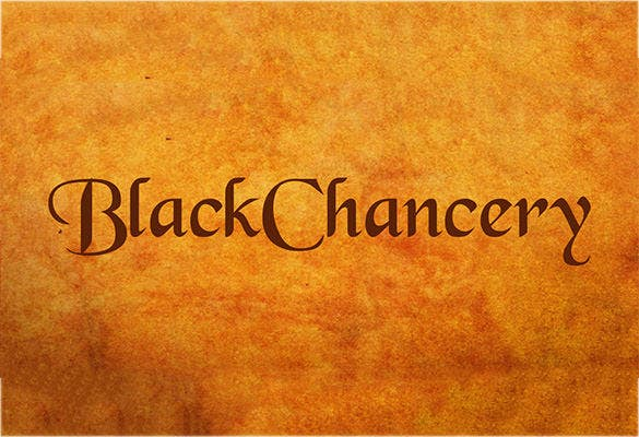 black chancery free commercial font
