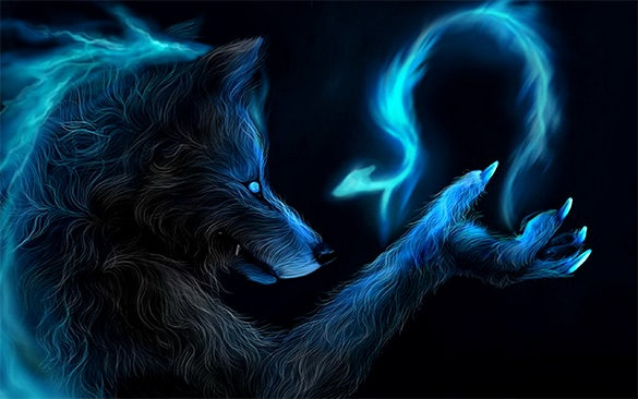 Lycan Magic Dark Wallpaper For Desktop