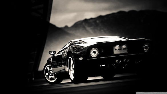 ford gt black wallpaper dark 1920x1080