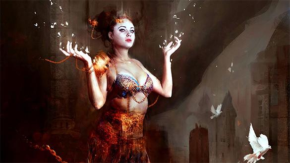 sorceress dark wallpapers free download