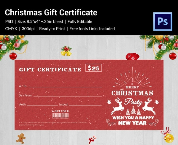 Disney Christmas Gift Certificate Template PDF Format