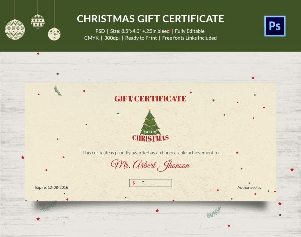 Bow Ribbon Background Christmas Certificate