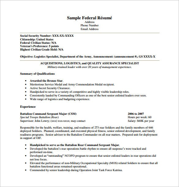 Federal resume templates solarfm usajobs resumes yelopaper Image collections
