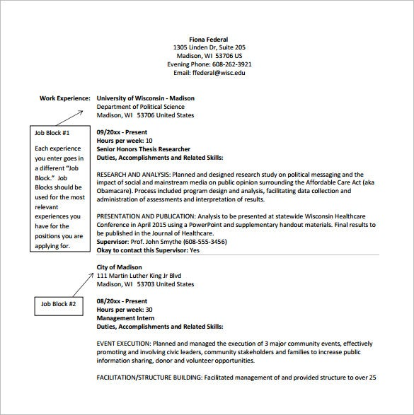 Beau Federal Resume For Competitive Service Jobs PDF