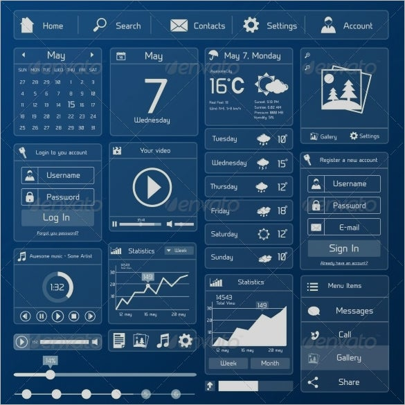 awesome flat user interface designs