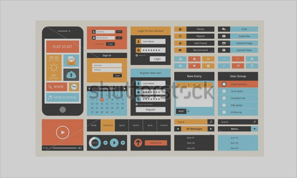 modern user interface design set