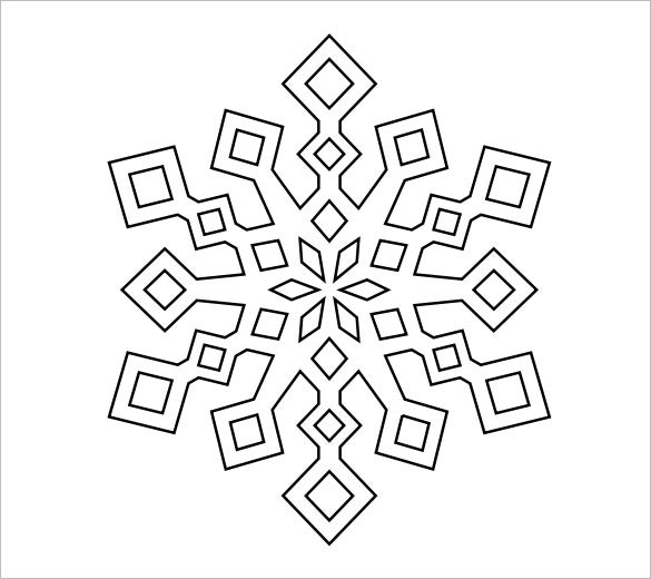 image relating to Snowflakes Template Printable identified as Snowflake Templates 49+ Cost-free Phrase, PDF, JPEG, PNG Layout