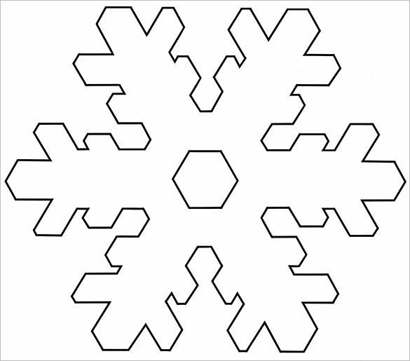 easy snowflakes template to print