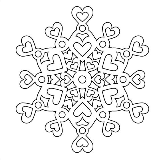 image relating to Printable Snowflakes called Snowflake Templates 49+ No cost Term, PDF, JPEG, PNG Layout