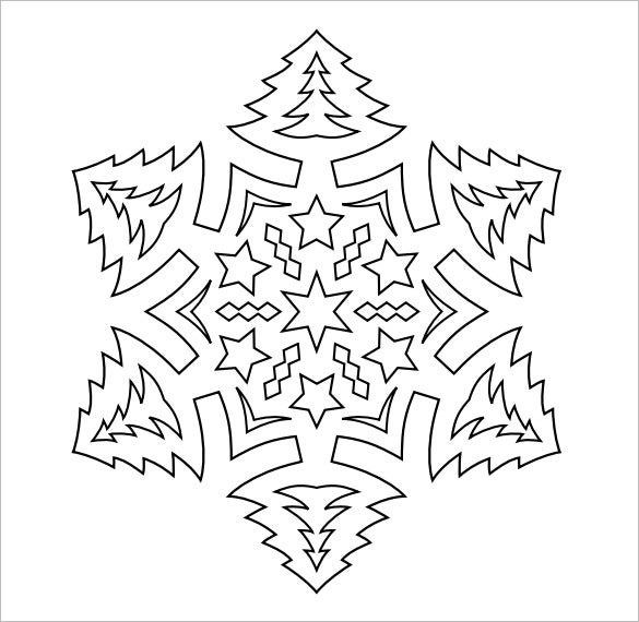 graphic about Snowflakes Template Printable titled Snowflake Templates 49+ Free of charge Phrase, PDF, JPEG, PNG Structure