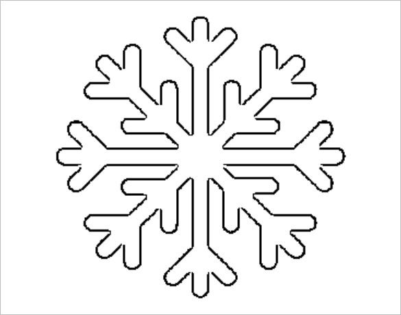 free printable snowflake template download