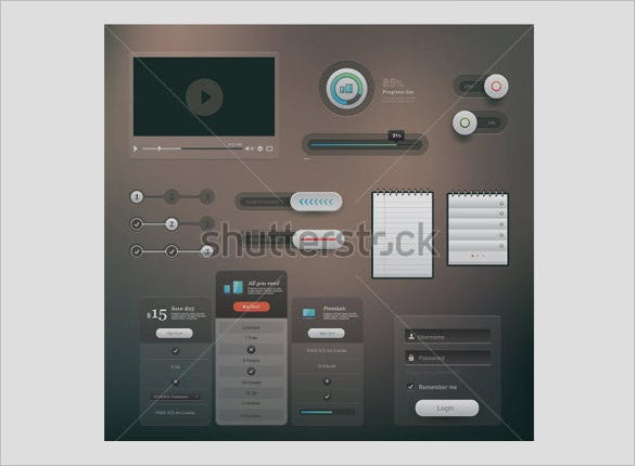 modern user interface designs for vector