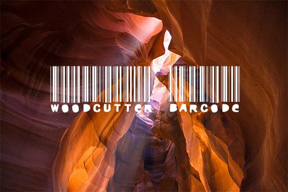 woodcutter barcode font free for you