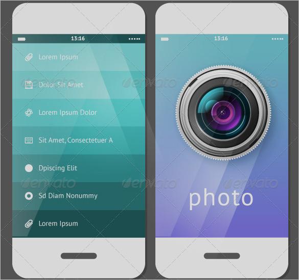 creative mobile user interface design set