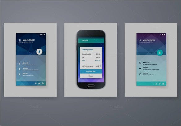 modern mobile user interface design collections