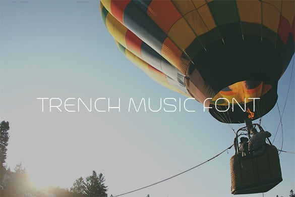 trench free music font download