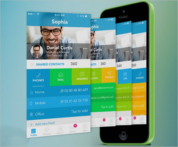 mobile user interface designs collection