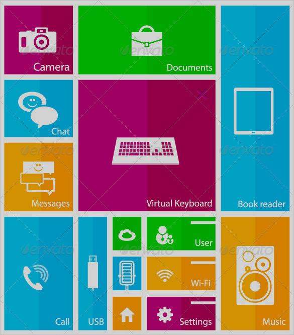 modern mobile user interface designs for vector
