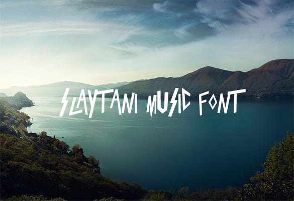 slaytanic music font for free