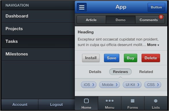 modern mobile user interface designs kit