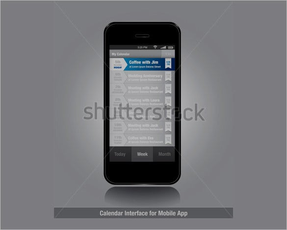 smartphone user interface designs collection