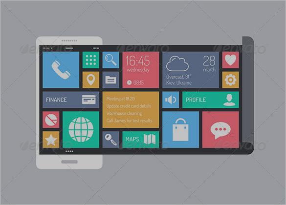 flat modern user interface designs