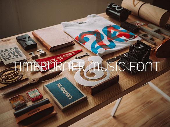 timeburner free music font download