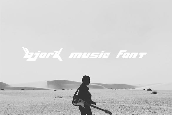 bjork free music font for you