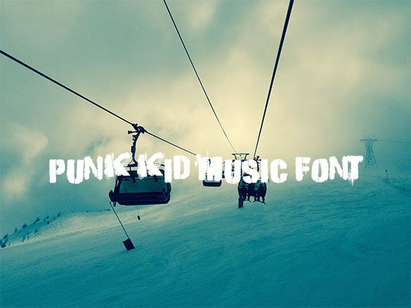 punk kid music font for free download