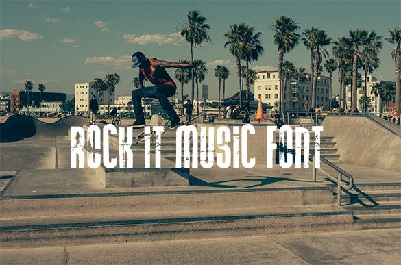 rock it music font for free