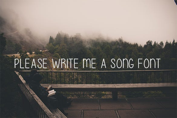 please write me a song music font