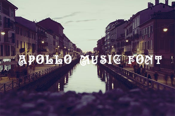 apollo music font free for you