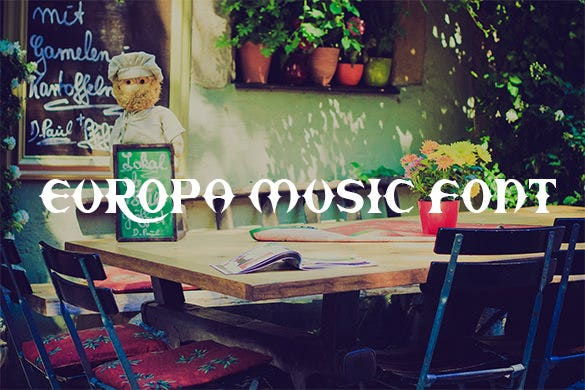 europa free music font for you