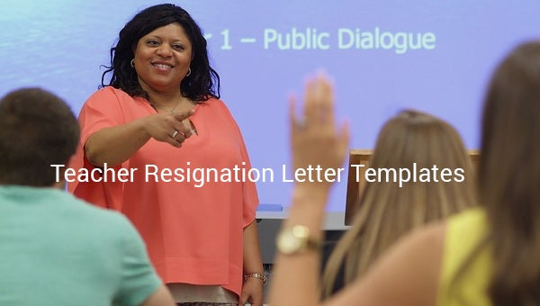teacher resignation letter template