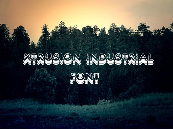 xtrusion industrial font free download