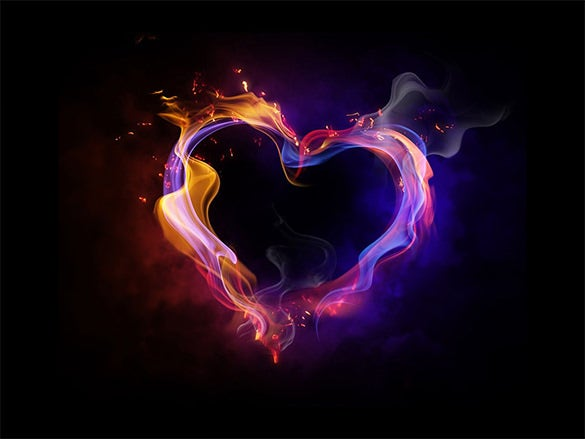 fire heart of love wallpaper for girls pc