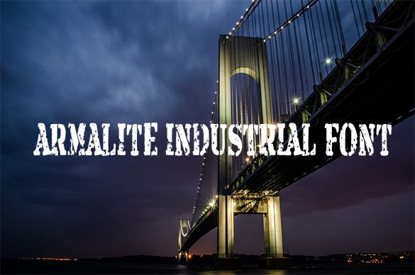 armalite industrial font for free