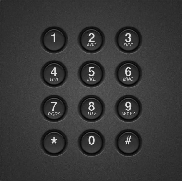 create a realistic telephone keypad in photoshop