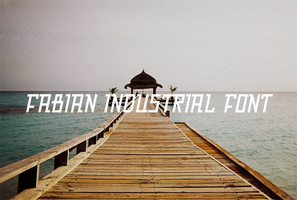free fabian industrial font for you