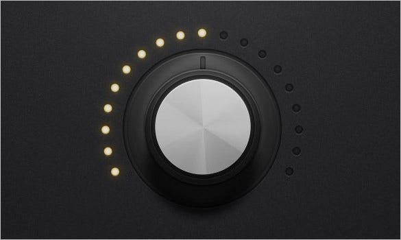 create audio rotary knob control in photoshop