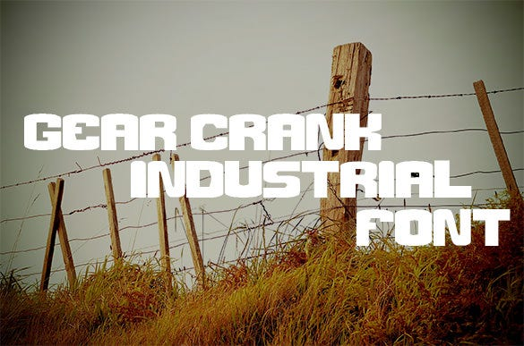 gear crank industrial font for free