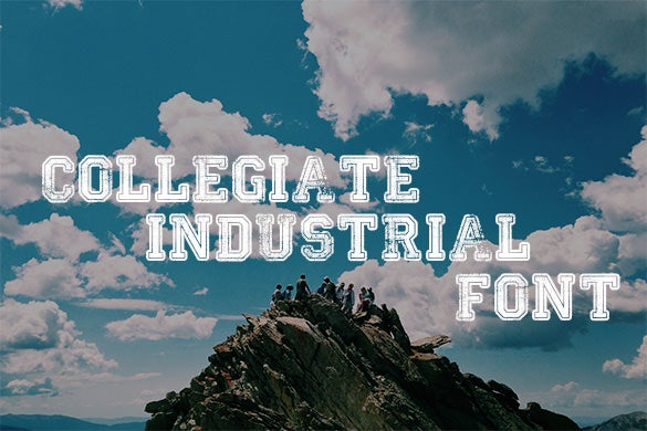 collegiate industrial font free for you