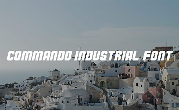 commando industrial font for you