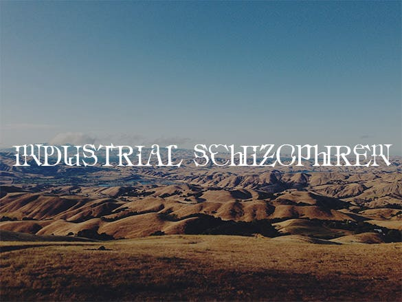 industrial schizophren font free download