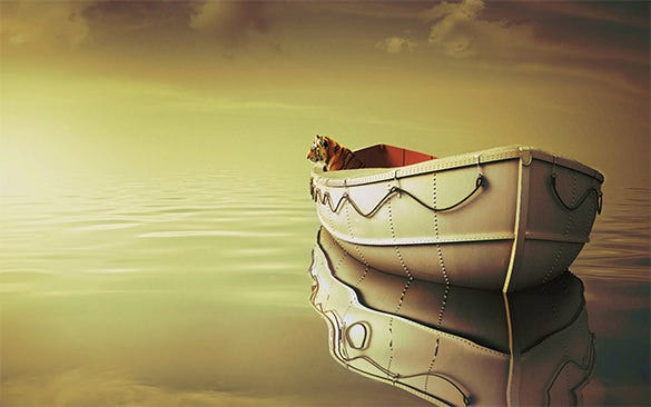 life of pi boat tiger background for laptop