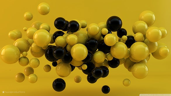 yellow and black balls moving desktop backgrounds