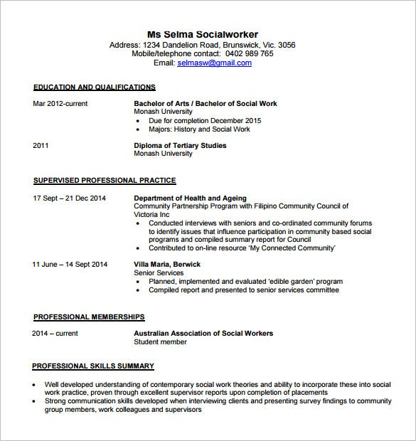 Contemporary Resume Template Free Word Excel Pdf Format